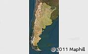 Satellite Map of Argentina, darken