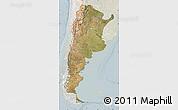 Satellite Map of Argentina, lighten