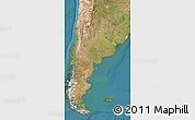 Satellite Map of Argentina