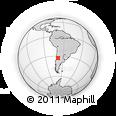 Outline Map of Godoy Cruz
