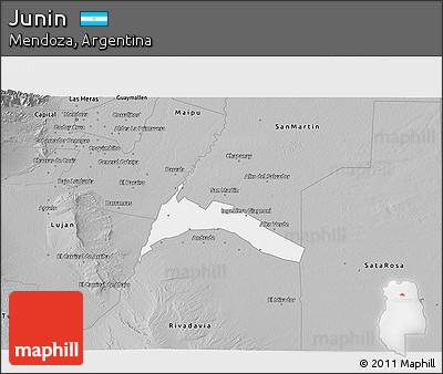 Free Gray D Map Of Junin - Junin argentina map