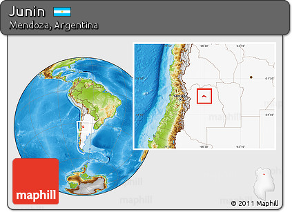 Free Physical Location Map Of Junin Highlighted Country - Junin argentina map