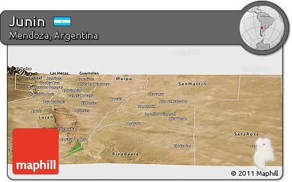 Free Satellite Panoramic Map Of Junin - Junin argentina map