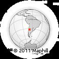 Outline Map of Las Heras