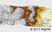 Physical Panoramic Map of Las Heras