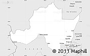 Silver Style Simple Map of Las Heras