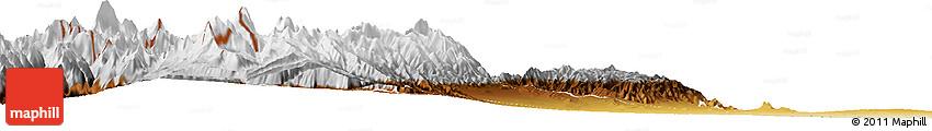 Physical Horizon Map of Lujan