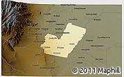 Physical 3D Map of Maipu, darken