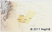 Physical 3D Map of Maipu, lighten