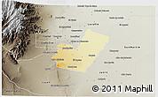 Physical 3D Map of Maipu, semi-desaturated