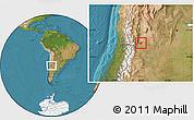 Satellite Location Map of Maipu