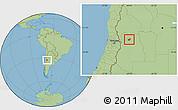 Savanna Style Location Map of Maipu