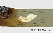 Physical Panoramic Map of Maipu, darken