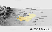 Physical Panoramic Map of Maipu, desaturated