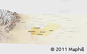 Physical Panoramic Map of Maipu, lighten