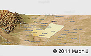 Physical Panoramic Map of Maipu, satellite outside