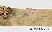 Satellite Panoramic Map of Maipu
