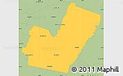 Savanna Style Simple Map of Maipu
