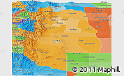 Political Shades Panoramic Map of Mendoza