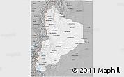 Gray 3D Map of Neuquen