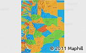 Political 3D Map of Neuquen