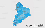 Political Shades 3D Map of Neuquen, cropped outside