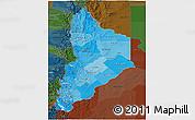 Political Shades 3D Map of Neuquen, darken