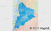Political Shades 3D Map of Neuquen, lighten