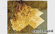 Physical 3D Map of Catan Lil, darken