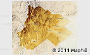 Physical 3D Map of Catan Lil, lighten