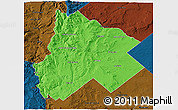 Political 3D Map of Catan Lil, darken