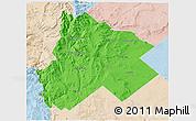 Political 3D Map of Catan Lil, lighten