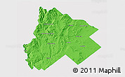 Political 3D Map of Catan Lil, single color outside