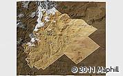 Satellite 3D Map of Catan Lil, darken