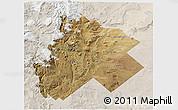 Satellite 3D Map of Catan Lil, lighten