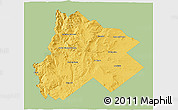 Savanna Style 3D Map of Catan Lil, single color outside