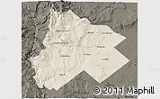 Shaded Relief 3D Map of Catan Lil, darken