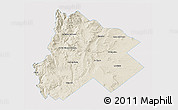Shaded Relief 3D Map of Catan Lil, single color outside