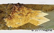 Physical Panoramic Map of Catan Lil, darken