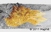 Physical Panoramic Map of Catan Lil, desaturated