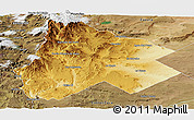 Physical Panoramic Map of Catan Lil, satellite outside