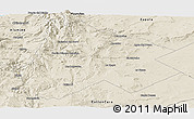 Shaded Relief Panoramic Map of Catan Lil