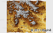 Physical Panoramic Map of Chos Malal
