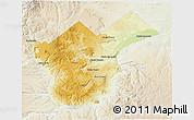 Physical 3D Map of Collon Cura, lighten