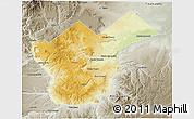 Physical 3D Map of Collon Cura, semi-desaturated