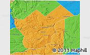 Political 3D Map of Collon Cura