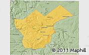 Savanna Style 3D Map of Collon Cura