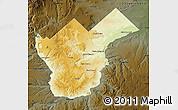 Physical Map of Collon Cura, darken