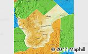 Physical Map of Collon Cura, political outside