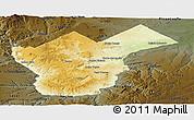 Physical Panoramic Map of Collon Cura, darken